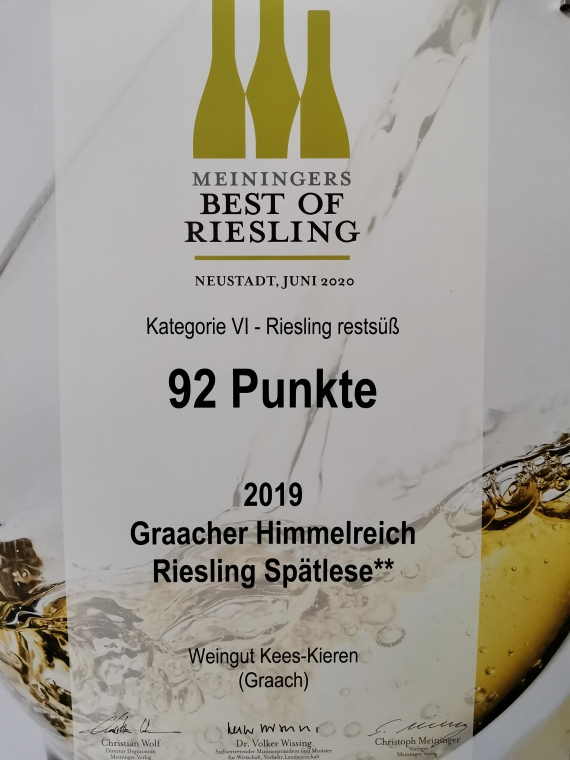 Best of Riesling 2021 Spälese**